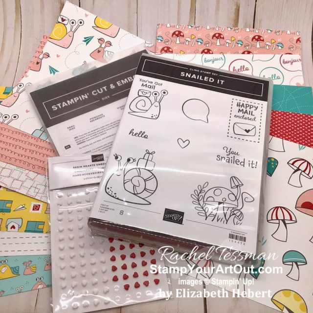 Our Stampers With ART Showcase Stamper for the month of January 2021 created some adorable cards & projects with products from the Snail Mail Suite: Snailed It Stamp Set, Snail Dies, and Snail Mail Designer Paper and more. Click here to see all these creations from Elizabeth Hebert. - Stampin' Up!® - Stamp Your Art Out! www.stampyourartout.com