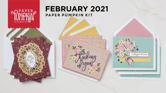 The Feb 2021 Bouquet of Hope Paper Pumpkin Kit.  - Stampin' Up!® - Stamp Your Art Out! www.stampyourartout.com