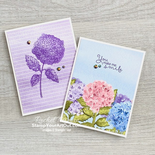 All Star Tutorial Blog Hop March 2021 featuring the Hydrangea Hill Suite of products from Stampin' Up!'s Jan-June 2021 Mini Catalog. Click here to see more of my set of 6 cards and card holder AND to access measurements, a how-to video with tips and tricks, other close-up photos, and links to all the products I used. Learn how to grab up the awesome exclusive tutorial bundle. AND see other great ideas with this suite shared by the eleven others in our tutorial group! - Stampin' Up!® - Stamp Your Art Out! www.stampyourartout.com