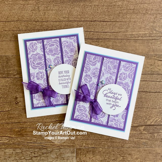 There are so many creative possibilities with the Flowering Cactus Product Medley of products. Here are a couple cactus-free cards I made with the pretty floral designer paper. Access measurements and links to the products I used.  - Stampin' Up!® - Stamp Your Art Out! www.stampyourartout.com