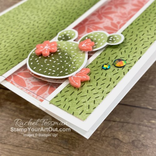 Here is a peek at the project I made for the Flowering Cactus Medley All Star Tutorial Bundle. Place a qualifying order in the month of April 2021 and get the bundle of 12 fabulous paper crafting project tutorials for free! Or purchase it for just $15 US. - Stampin' Up!® - Stamp Your Art Out! www.stampyourartout.com