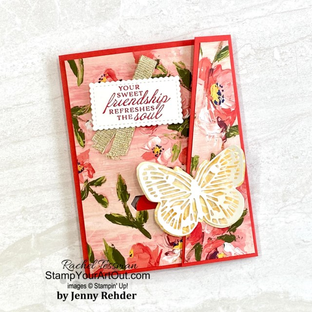 So fun! Check out a couple more Sliding Lock cards featuring the Flowering Cactus Medley and a beautiful one that my team member, Jenny Rehder made. You'll be able to access measurements, the how-to video I made for my Easter version of this type of card, other close-up photos, and links to the products I used. - Stampin' Up!® - Stamp Your Art Out! www.stampyourartout.com