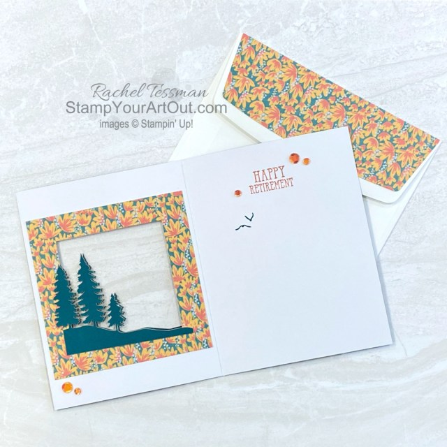 "I'm excited to share with you another card I created with the March 2021 Here's to You Paper Pumpkin Kit! Click here for photos, measurements, directions/tips for making it, and a complete product list linked to my online store. Plus, you can see several other alternate project ideas created with this kit by fellow Stampin' Up! demonstrators in our blog hop: ""A Paper Pumpkin Thing""! - Stampin' Up!® - Stamp Your Art Out! www.stampyourartout.com"