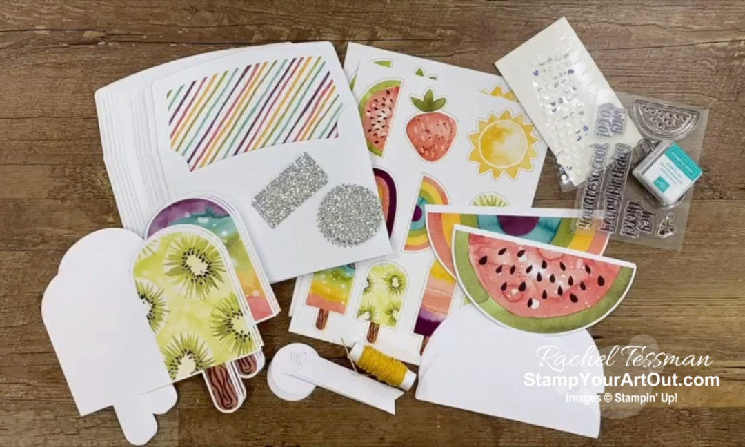 """I'm excited to share with you some alternate project ideas I came up with using the contents of the April 2021 So Cool Paper Pumpkin Kit: three """"outside the box"""" cards, mini RAK cards, how to double the cards in the kit, and a 12x12 scrapbook page layout! Click here for photos of all these projects, a video with directions, measurements and tips, and a complete product list linked to my online store. - Stampin' Up!® - Stamp Your Art Out! www.stampyourartout.com"""