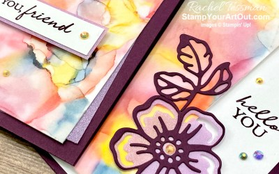 Alcohol Ink Art with Stampin' Blends & Shaded Summer