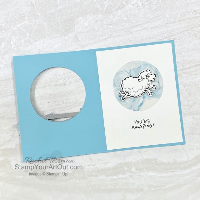 I've had lots of fun creating this window card with the Counting Sheep Stamp Set and the coordinating Sheep Dies - two free picks that are at the $50 level from this season's Sale-a-Bration brochure. Access more photos, measurements, directions, and a supply list by clicking here. - Stampin' Up!® - Stamp Your Art Out! www.stampyourartout.com