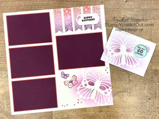"""Click here to see & get details for how to make a festive butterfly birthday-themed scrapbook page and a coordinating birthday card from your August 2021 """"Hope Box"""" Paper Pumpkin kit, A Grand Kid Stamp Set, and some extra products. Plus you can see several other alternate project ideas created with this kit by fellow Stampin' Up! demonstrators in our blog hop: """"A Paper Pumpkin Thing""""!  - Stampin' Up!® - Stamp Your Art Out! www.stampyourartout.com"""