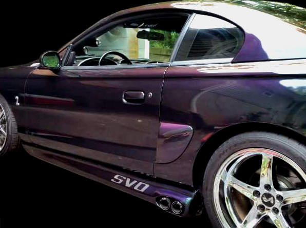 94 to 98 mustang svo style side exhaust