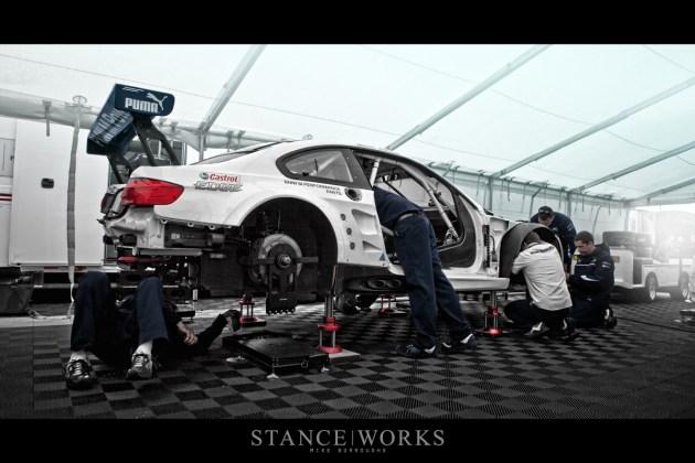 BMW ALMS Team RLL Paddock