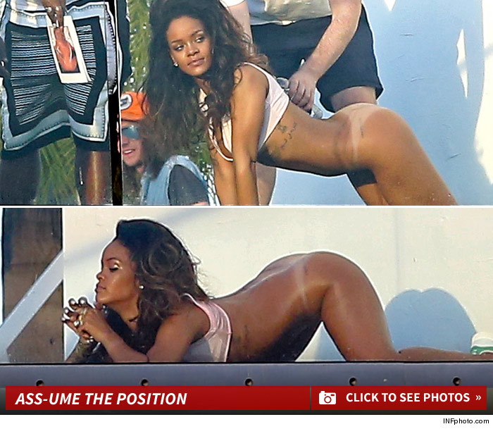 Rihanna Face Down, Ass Up Bottomless