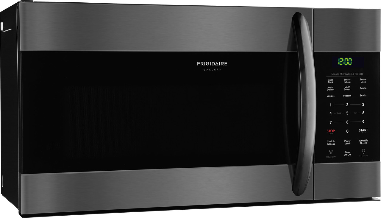 frigidaire 1 7 cft black stainless steel over the range microwave sensor cooking reheat