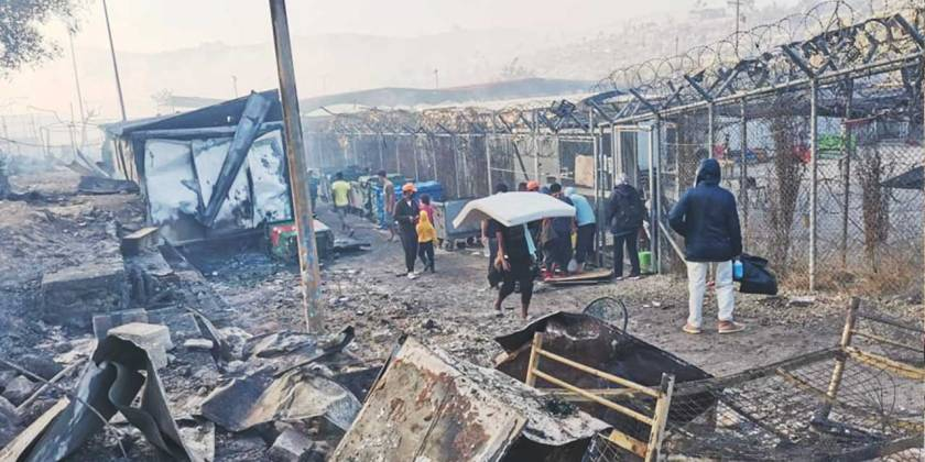 One year after the Moria Camp on the Greek Island of Lesvos burned down refugees are still living in bad conditions  | wadi-online.org