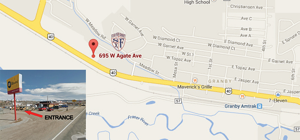 We Are Located Along U S Highway 40 On The West Side Of Granby