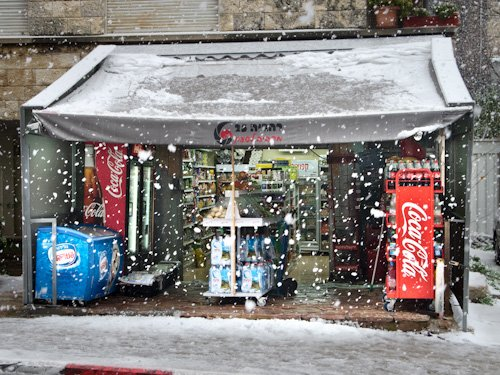 Even snow goes better with Coke.