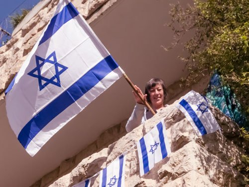 Marcia with Israeli Flag