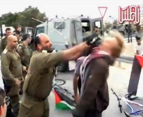 IDF Soldier Strikes Pro-Palestinian