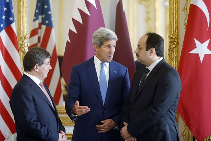 Kerry Meets with Representatives from Hamas, Qatar and Turkey