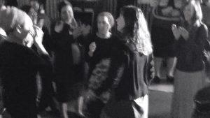 Hadas Mizrahi, a recent widow, dancing.
