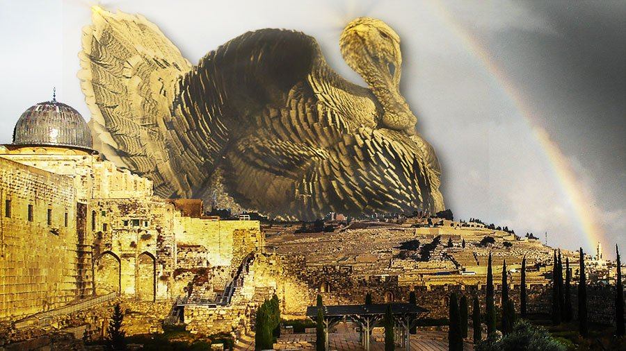 Turkey looming over old city jerusalem
