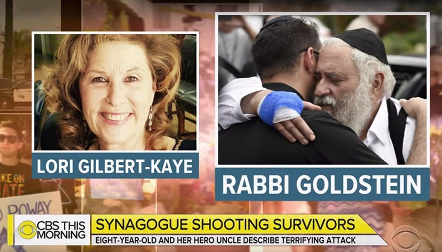 Lori Kaye and Rabbi Israel Goldstein