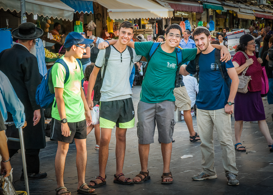 Israeli Boys at the shuk