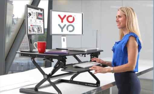Yo-Yo Sit-stand desk with screens