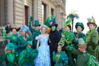 Lucy Durack (Glinda), Jemma Rix (Elphaba) and Wicked Cast