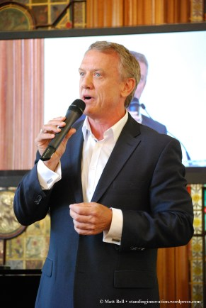 Simon Burke (Georges) performing Song on the Sand