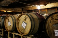 Photo of wine barrels indoors