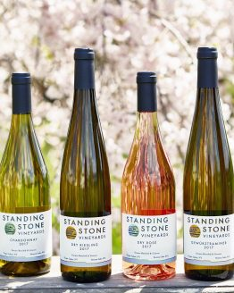 Photo of Standing Stone wine bottles outdoors