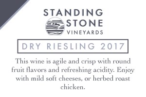 Dry Riesling 2017 Shelf Talker