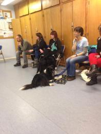 Students listening carefully