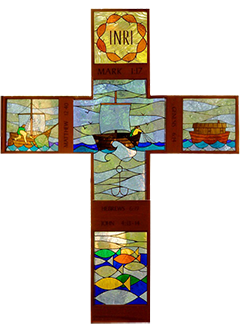 Stained glass cross250pxwide