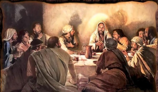 Jesus and disciples at Last Supper