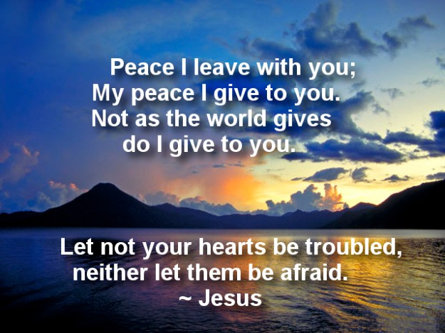 Peace for troubled hearts