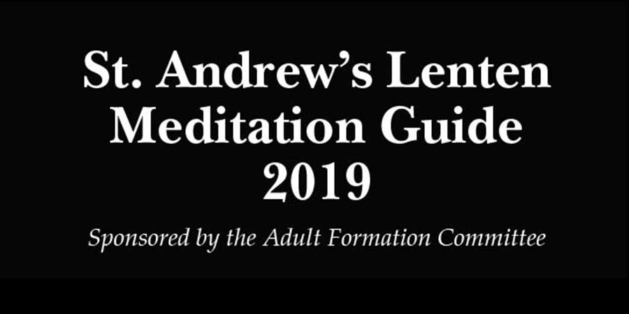 2019 Lenten Meditation Guide