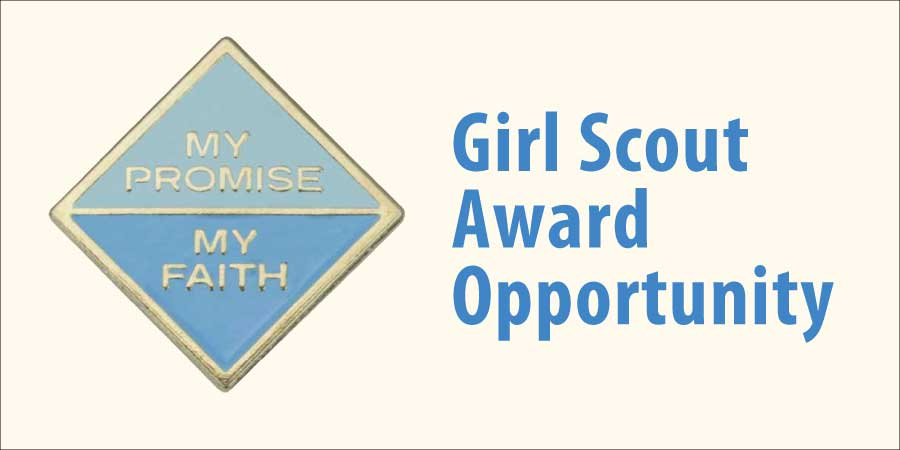 My Faith My Promise Girl Scout Award