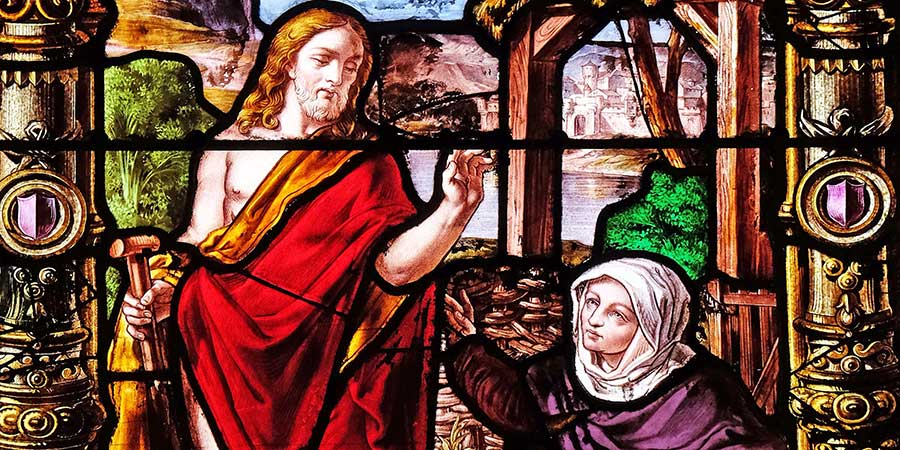 Jesus and Mary in the Garden