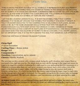 1st - Fiery Sigil