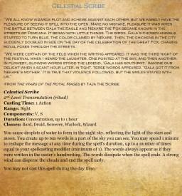 2nd - Celestial Scribe