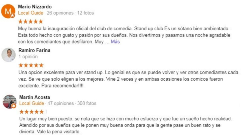 Comentarios Stand Up Club