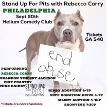 Stand Up For Pits PHILADELPHIA's amazing line up!!