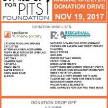 SUFP Donation Drive SPOKANE 4-7p TODAY!!!