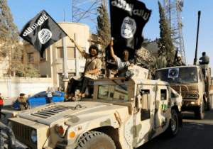 ISIS parade photo via Reuters