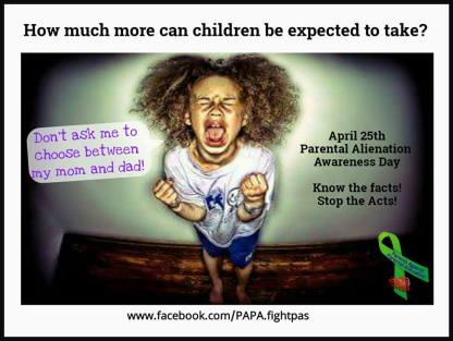 Parental Alienation is a CRIME STOP THE HATE- 2015
