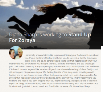 Stand up for Zoraya - Causes Personal Campaign by Diana - 2015