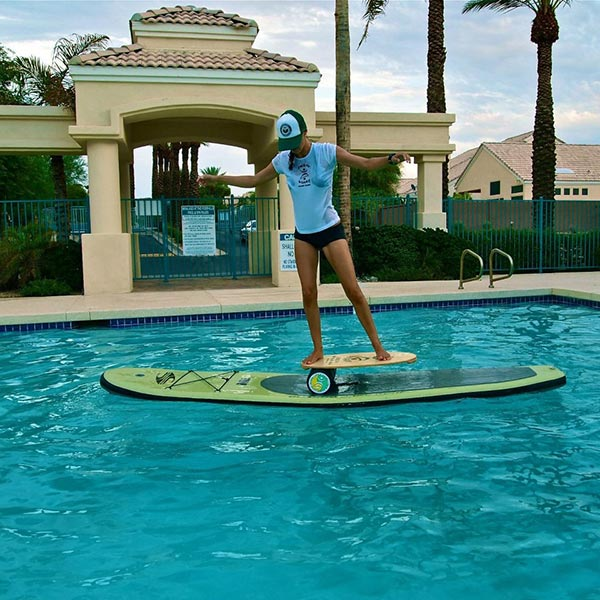 indo board on inflatable sup