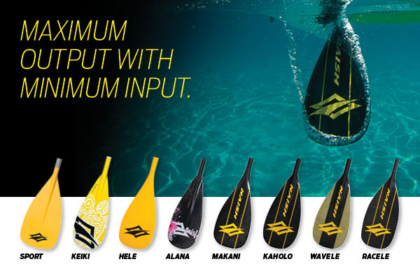 naish paddles maximum output minimun input