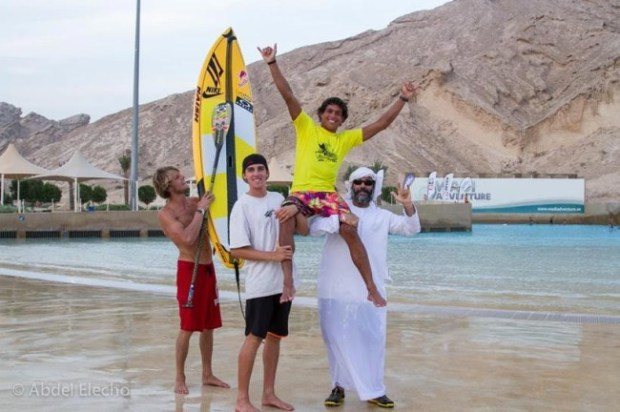 Kai Lenny proves victorious in the World Tour Surfing at the Abu Dhabi All Stars