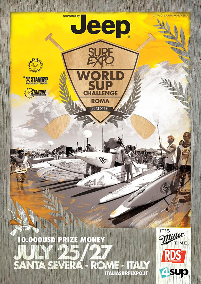 The SUP World Challenge at Santa Severa Beach in Rome to follow on the 25th July
